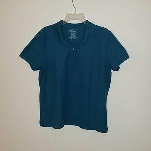 L.L. Bean Shirts - LLBEAN relaxed fit polo, L, blue